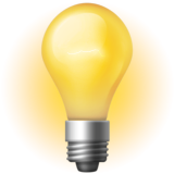 Emoji (Glowing electric light bulb)