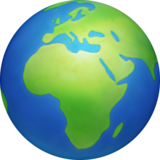 🌍 Emoji (Earth globe: Europe & Africa)