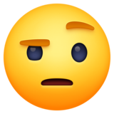 🤨 Emoji (Face with raised eyebrow)