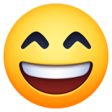 😄 Emoji (Laughing face with smiling eyes)